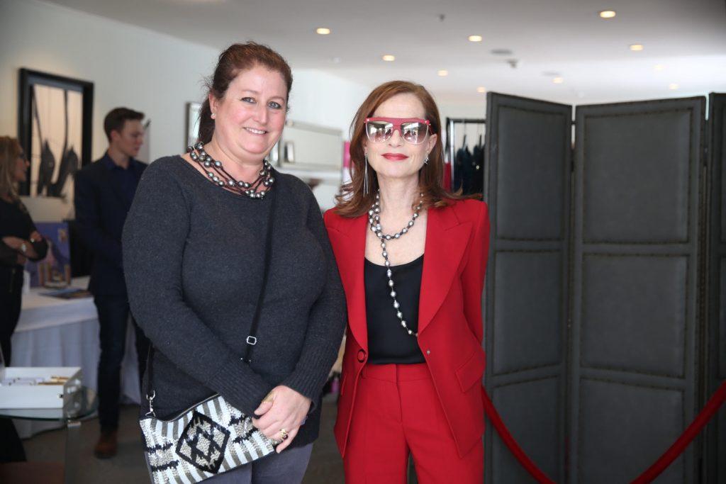 Nathalie Dubois en compagnie d'Isabelle Huppert