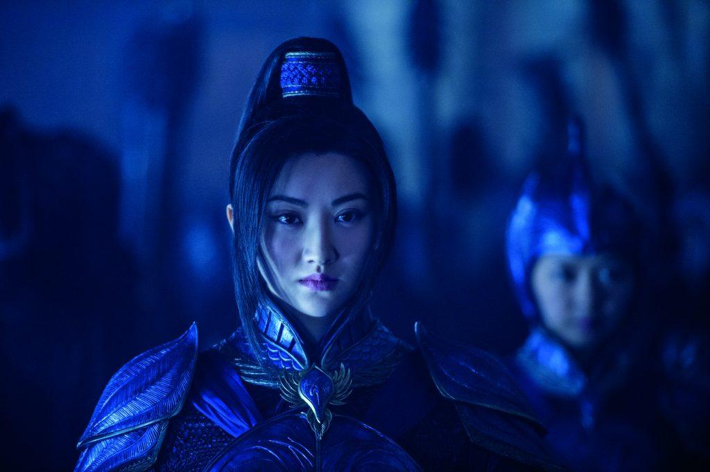Le commandant Lin Mae, alias l'actrice chinoise Jing Tian