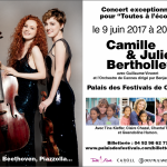 Concert caritatif de Camille et Julie Berthollet vendredi 9 juin au Palais des Festivals à Cannes