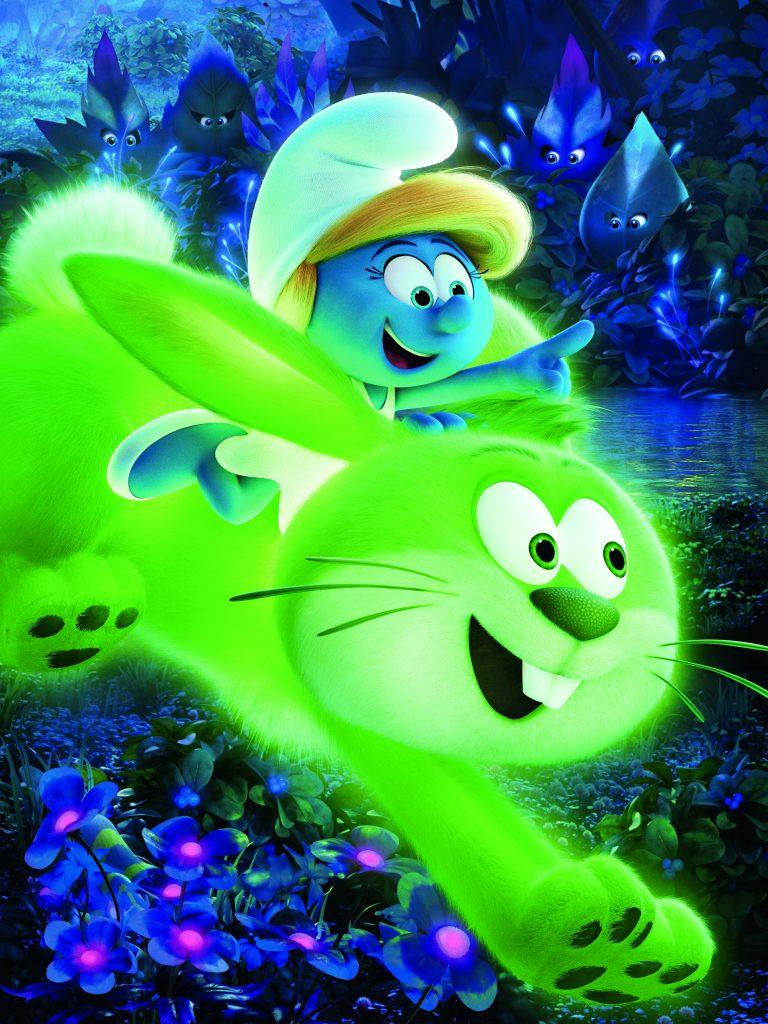 La Schtroumpfette et le lapin fluorescent.