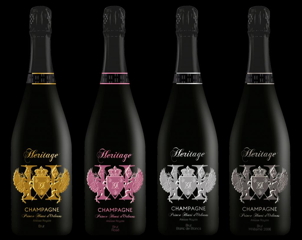 """La gamme complète du champagne """"Héritage"""""""