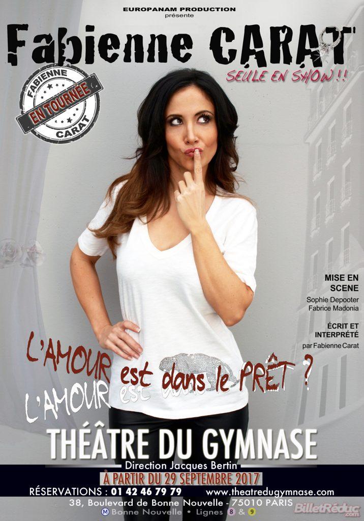 Fabienne Carat au Gymnase à Paris