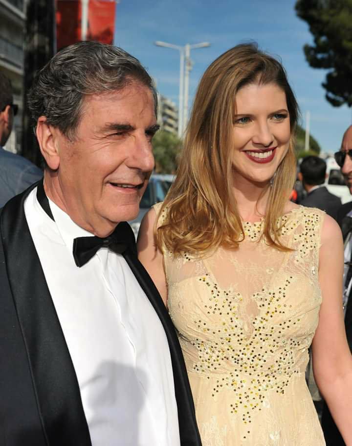 Karine Ventalon au Festival de Cannes en compagnie de Bernard Menez