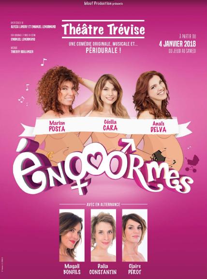"Marion Posta, Cécilia Cara et Anaïs Delva dans ""Enooormes"""