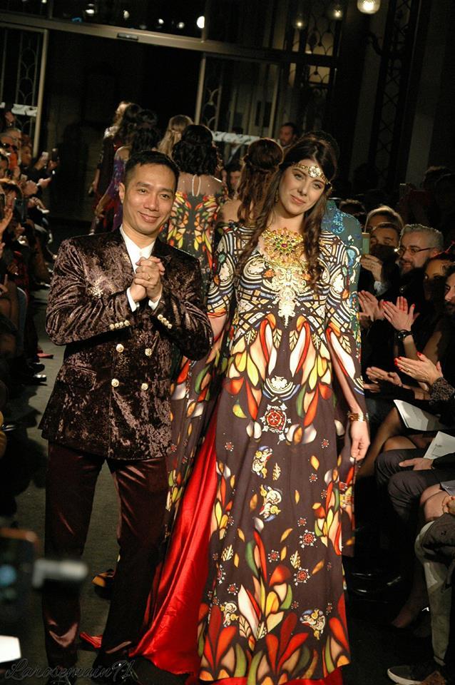 DO Trinh Hoai Nam et le mannequin phare de FGC Florence Precy