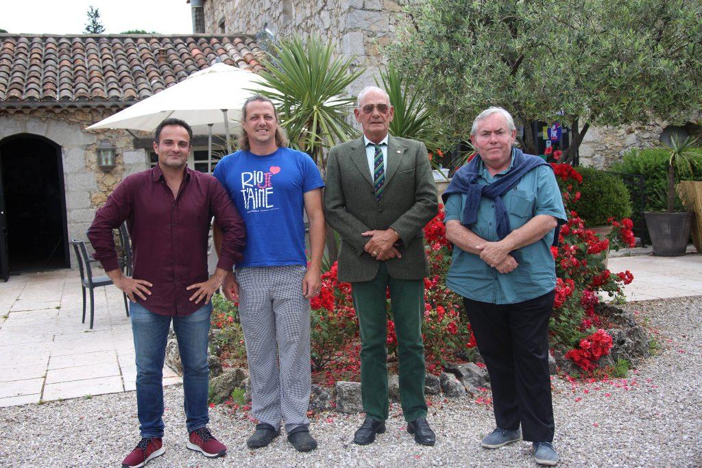 Laurent Amar, Olivier Cozan, Baron Michel de Brawney et Philippe Deloze