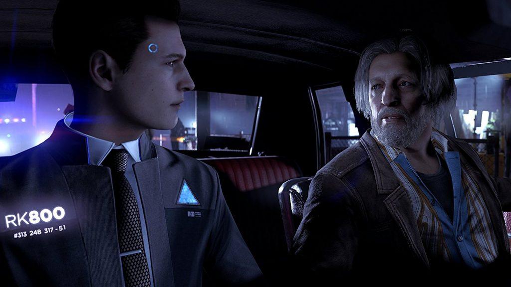L'Androïde policier Connor et son partenaire humain