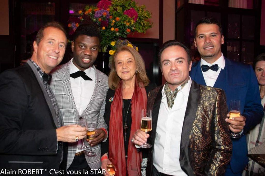 Franck Clere, Le Prince Bockassa, Véronique Grange-Saphis et un ami du Prince.