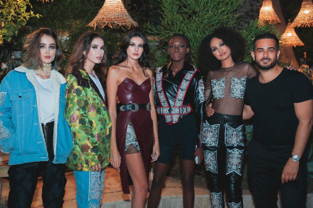 Le créateur Ibrahim Shebani et ses mannequins