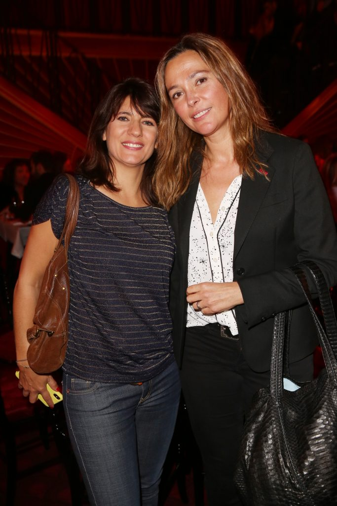 Estelle Denis et Sandrine Quetier lors de la soiree d'inauguration du restaurant Roxie a Paris, France, le 27 Novembre 2018. Photo by Jerome Domine/ABACAPRESS.COM
